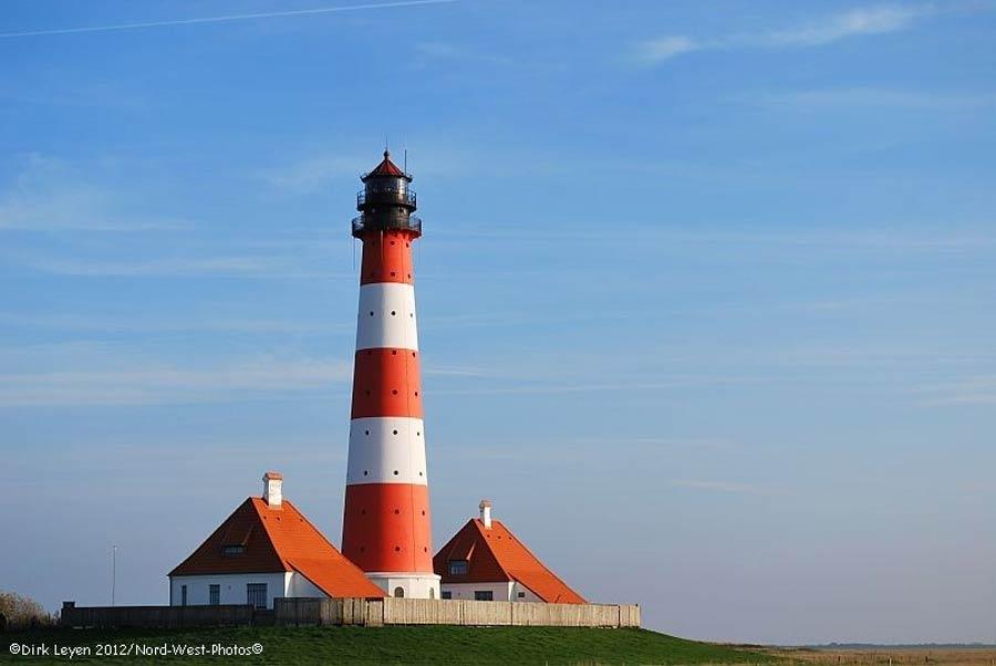 Urlaub in Schleswig-Holstein wie am Leuchtturm von Westerhever, Ferienwohnungen und Ferienhäuser auf Eiderstedt an der Nordsee oder an der Ostsee