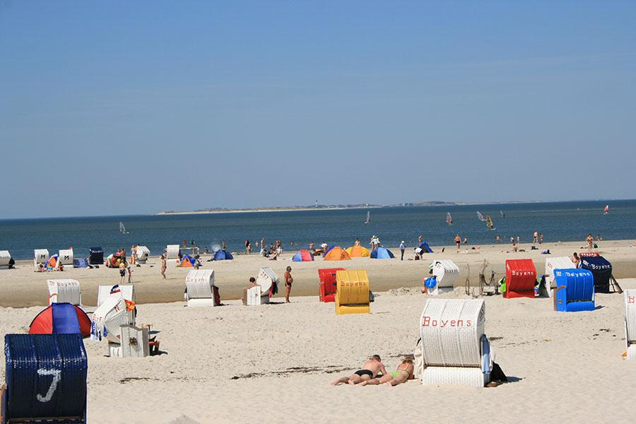Urlaub auf Amrum am Strand
