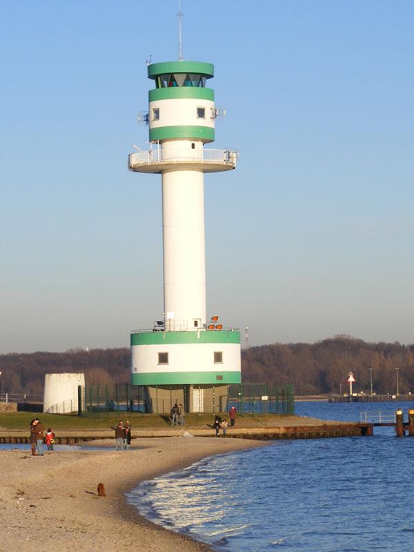 Leuchtturm bei Kiel in Friedrichsort an der Ostsee