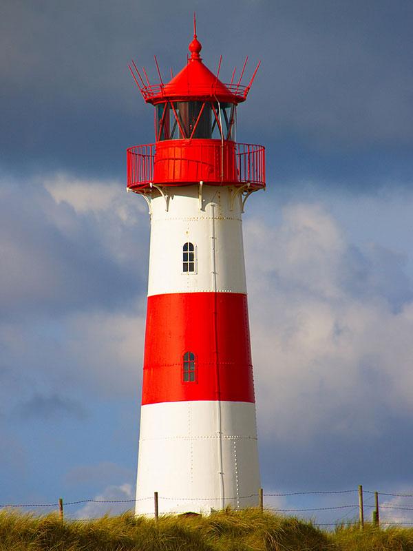 Leuchtturm List auf Sylt in der Nordsee