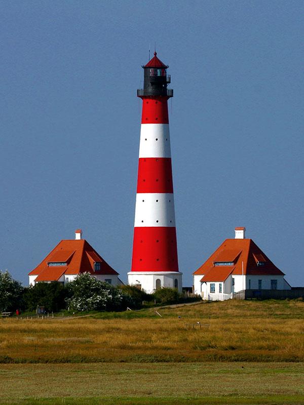 Leuchtturm Westerhever auf Eiderstedt an der Nordsee