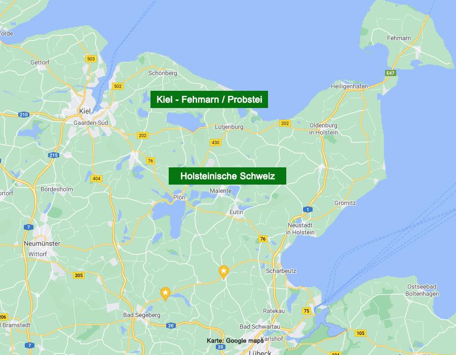 Ferienorte Kiel Fehmarn