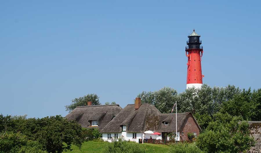 Leuchtturm auf Pellworm in Nordfriesland